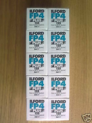 ILFORD FP4 PLUS 35mm 36 exp B+W (10 Pack) **CHEAPEST**