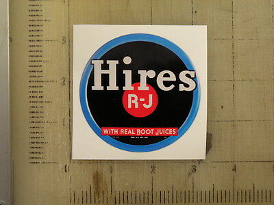 "Vintage Hires sticker decal 3"" diameter"