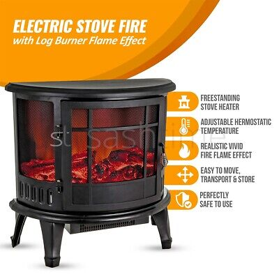 ELECTRIC FIREPLACE FIRE Wood Flame Heater Stove Living Room