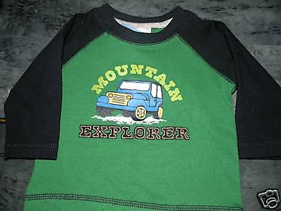 "GYMBOREE GREEN TRUCK ""Mountain Explorer"" TEE 3 6 NWT"