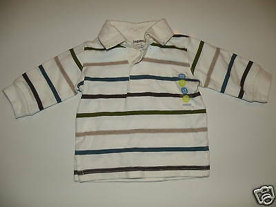 Gymboree Multi Color Stripe Rugby Polo Shirt 3 6 Nwot