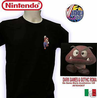 T-SHIRT ORIGINALE SUPER MARIO BROSS e GOOMBA TAGLIA XL