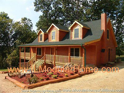 TRUE MODULAR LOG HOME 2,353 SF ONLY $263K IL and WI