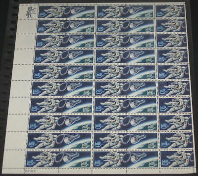 US #1331-2 5¢ Space Twins, Complete sheet of 50, og, NH