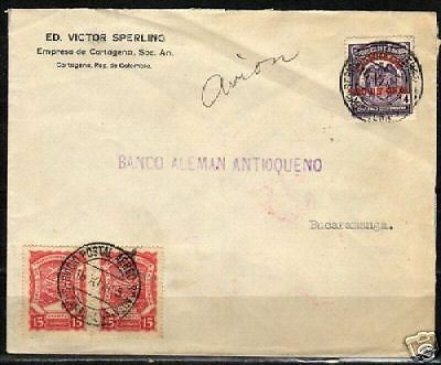 Colombia 1925 attractive SCADTA cover to Bucaramanga