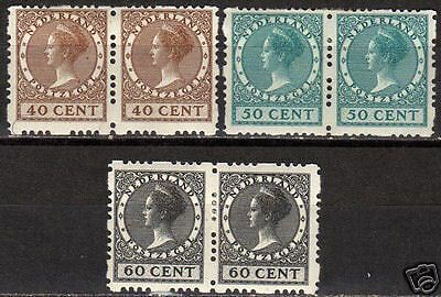 Netherlands 1928 NVPH Roltanding 54-56 in pairs  MLH VF