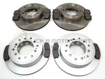 FRONT AND REAR BRAKE DISCS AND PADS FOR TOYOTA LANDCRUISER COLORADO 3.4 V6 8//199