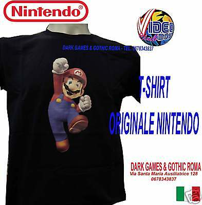 T-Shirt Originale Super Mario Bross Blu Scuro Taglia Xl