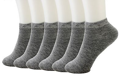 12 Packs Ankle Cool Socks Sport Mens Womens Low Cut Lot NWT#70033A Grey Size 6-8