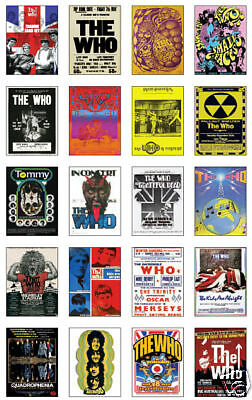 The Who Concert Posters Trading Card Set uncut Sheet