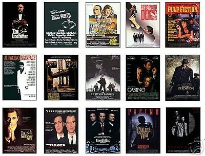 Classic Gangster Film Poster Trading Card Set Godfather