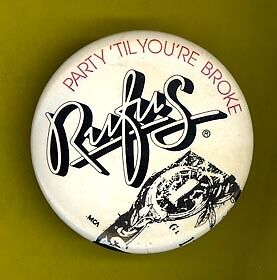 Rufus 1981 Party til Youre Broke badge button pinback MM