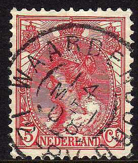Netherlands GRR CANC Waardenburg on NVPH 60  VF