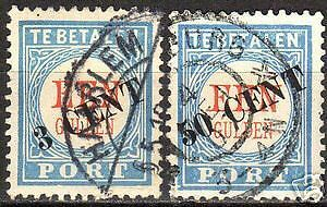 Netherlands 1906 NVPH Due 27-28 CANC VF
