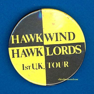 Hawkwind 1970 1st uk tour badge button pinback w