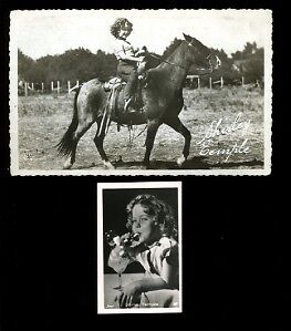 """SHIRLEY TEMPLE """"French"""" 1930s PC 1 WALET PHOTO 2098 B2 P1"""