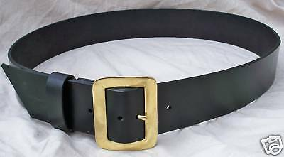 Premium Leather Santa Claus Belt w Solid Brass Buckle Superbly Crafted + PIRATE