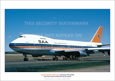 SOUTH AFRICAN AIRWAYS BOEING 747 A3 POSTER PRINT PICTURE PHOTO IMAGE x