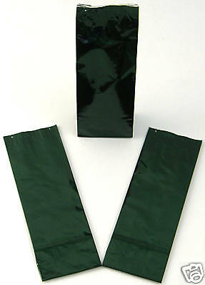 50 x 100g Flavour Lock Green Deco Bags For Tea & Coffee