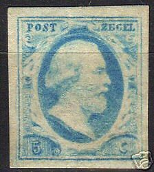 Netherlands 1852 NVPH 1 large margins MLH VF