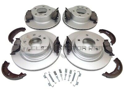 Bmw 120D E87 Front & Rear Brake Discs And Pads Handbrake Shoes Fitting Kit