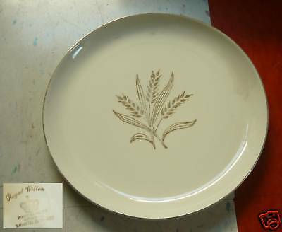 Vintage ROYAL WILTON WHEAT PLATE 22 K Warranted Gold