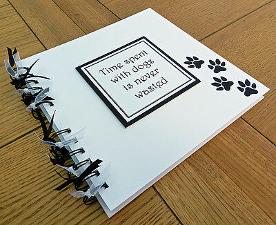 "Pet dog scrapbook 8""x8"" photo book memory album gift puppy - can be personalised"