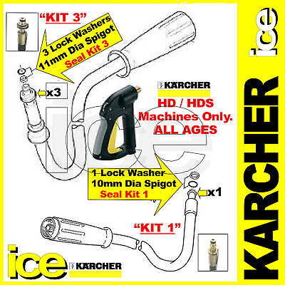 KARCHER HD HDS TRIGGER GUN HOSE SPIGOT SWIVEL O-RING SEAL WASHER KIT 745 601 etc
