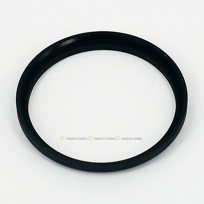 49mm-52mm 49-52mm Step Up Filter Ring Adapter Black