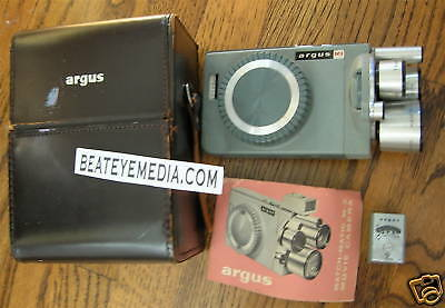 Vintage Argus M3 Movie Camera-8Mm-Near Mint-Film,kodak,