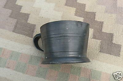Vintage Pewter Measuring Pitcher w Stamped Maker's Mark