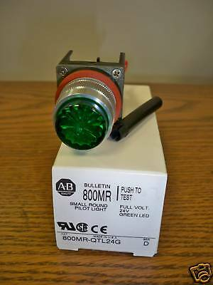 Allen Bradley 800MR-QTL24G Green Small Round Pilot Light 24V Full Voltage New