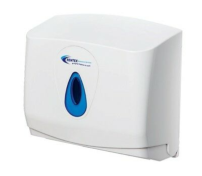 Paper Hand Towel Dispenser White Takes C Fold & Z Fold, Key Locking Wall Mounted