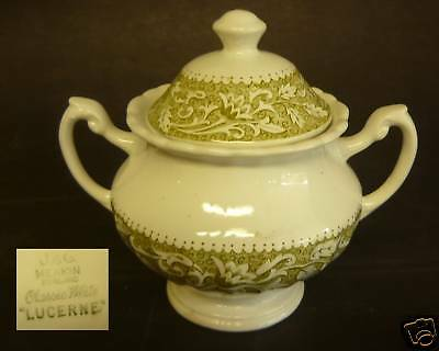 J & G MEAKIN ENGLAND SUGAR BOWL CLASSIC WHITE LUCERNE