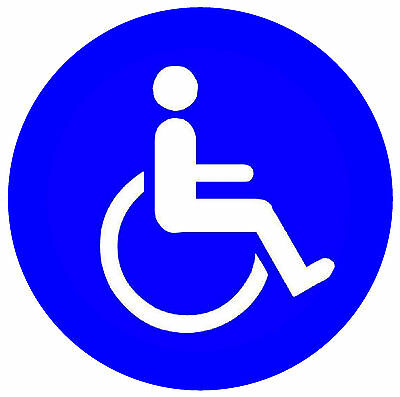4 X Disabled - Window / Door Inside Stickers - New