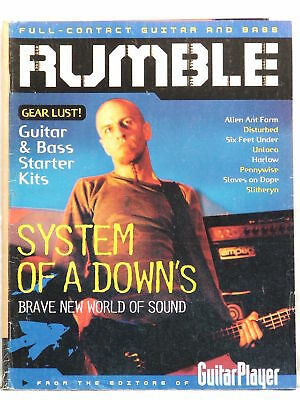 2001 RARE RUMBLE GUITAR MAGAZINE SYSTEM OF A DOWN Disturbed Harlow Pennywise
