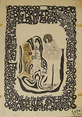 BIG BROTHER AND THE HOLDING COMPANY 1967 IV A3 ART PRINT POSTER YF5070