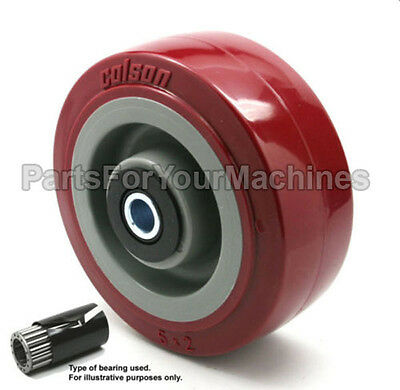 """OEM COLSON, WHEEL, 5""""x2"""", 1/2"""" AXLE, TOOL CABINETS, SCRUBBERS, SHELVES, CARTS"""