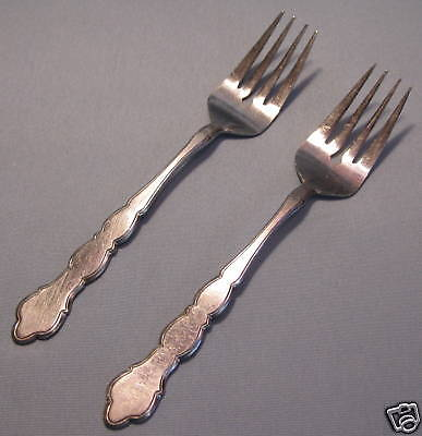 United Silver Co Stainless US17 Japan Two Salad Forks