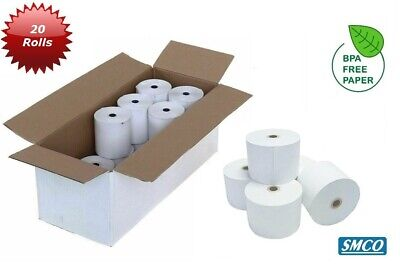 SMCO Thermal Paper Till Roll 20 Rolls 44 X 80 For SHARP XE-A301