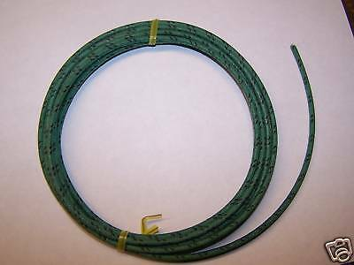 Cloth Covered Primary Wire  16 gauge Green w/ Black