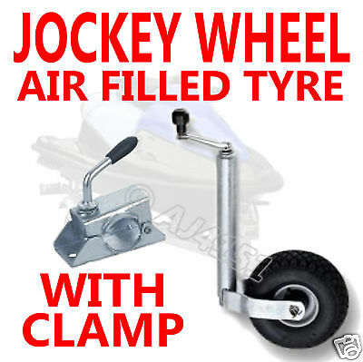 Boat Jetski Trailer etc Jockey Wheel & Air Tyre + CLAMP 48MM