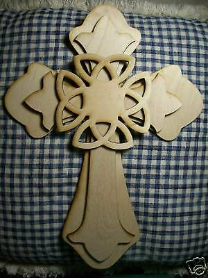 UNFINISHED WOOD LAYERED Fleur Di Lis CROSS KIT style #FDLOct02-15/'/'