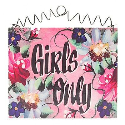 GIRLS ONLY Sign Shabby Cottage chic Girls Room club NEW