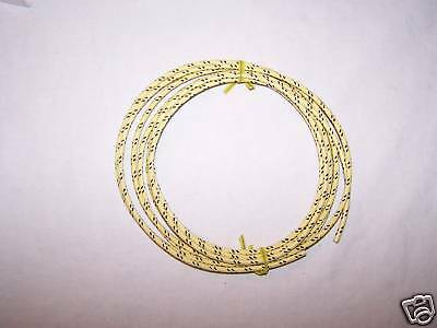 Cloth Covered Primary Wire 16 g  Yellow w/black Tracers