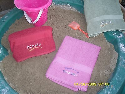 Personalized EMBROIDERED BEACH bath Towel Wedding birthday baptism bridal gifts