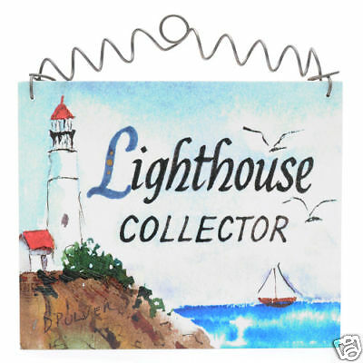 LIGHTHOUSE COLLECTOR  Sign Cottage Chic Shabby Home