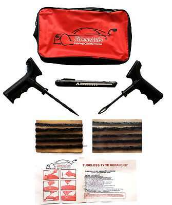 Car VAN Motorcycle Bike Tubeless Tyre Puncture Repair Tool Kit - heavy strips