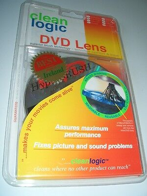 Clean Logic DVD Lens Cleaner  with Brush Technology