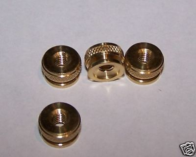 4 Brass Replacement Spark Plug Thumb Nuts 8/32 Thread
